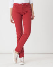 Victor straight-cut red trousers red.