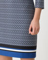 Delila graphic navy blue dress (3) - 1-2-3
