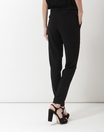 Douguy black tapered cut trousers (3) - 1-2-3
