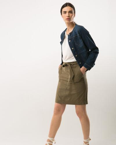 Dolce khaki skirt lyocell (2) - 1-2-3