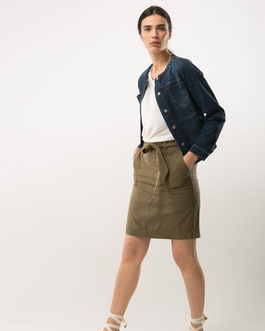 Dolce khaki skirt lyocell (1) - 1-2-3