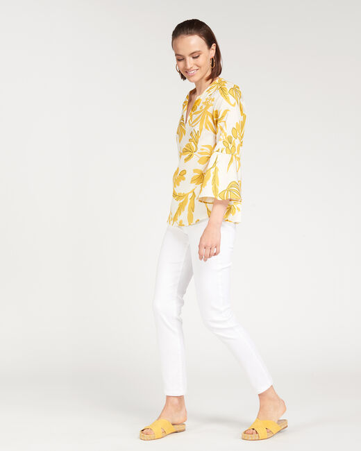Elvina yellow printed blouse (2) - 1-2-3