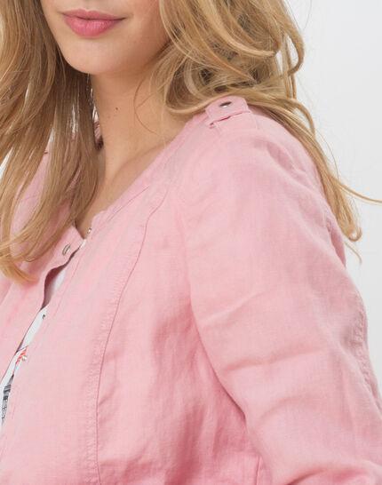 Umbria pink linen jacket (4) - 1-2-3