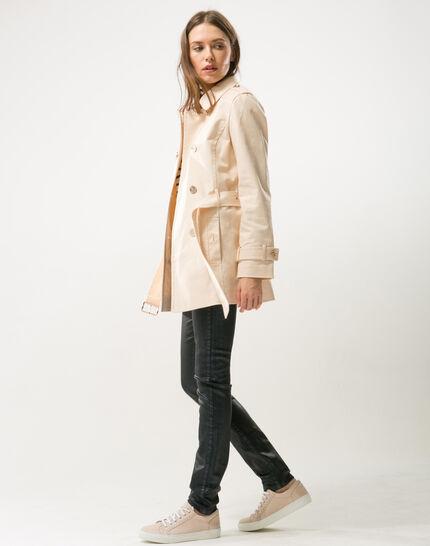 Kym pastel pink trench coat (2) - 1-2-3