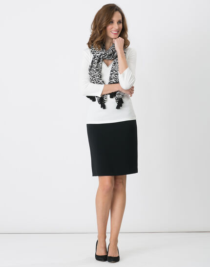 Jackie black tailored skirt PhotoZ | 1-2-3