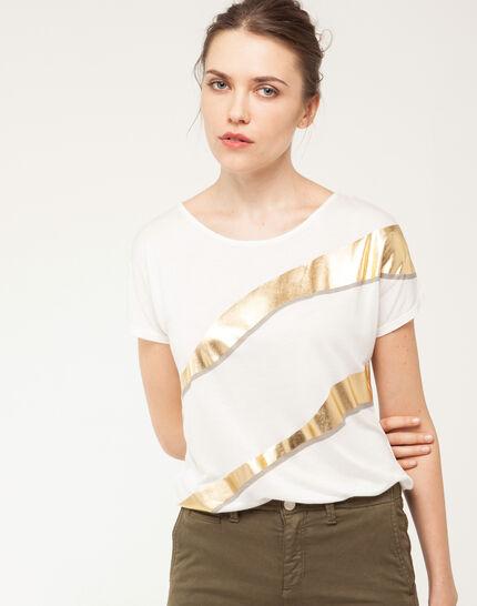 Tee-shirt imprimé brillant Nail PhotoZ   1-2-3