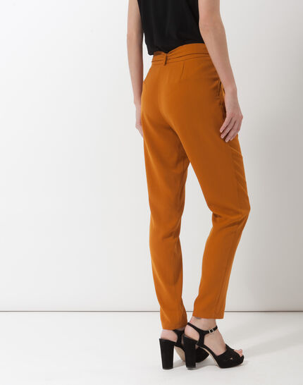 Douguy ochre tapered cut trousers (3) - 1-2-3