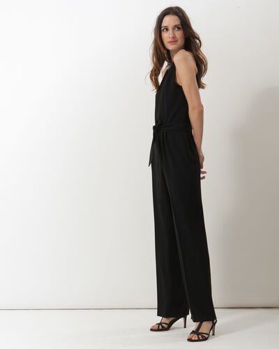 Carly black jumpsuit with Swarovski-embellished neckline (1) - 1-2-3