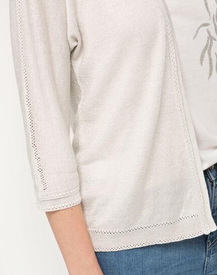 Hirondelle beige knitted jacket (4) - 1-2-3