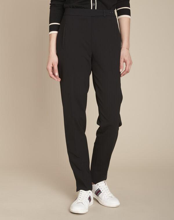 Pantalon de tailleur noir slim lara à