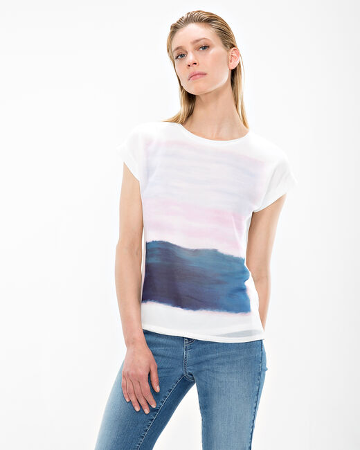 Tee-shirt écru imprimé Nectar (2) - 1-2-3