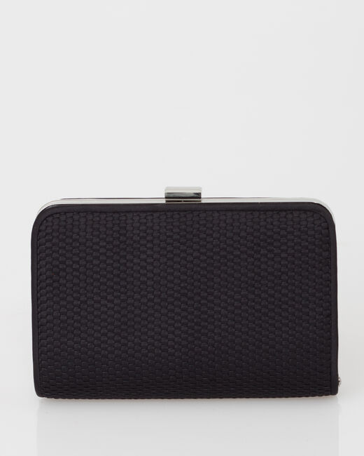 Pauline black clutch bag (2) - 1-2-3