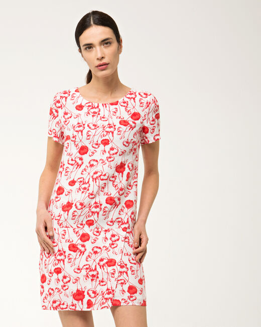 Bobby poppy printed linen dress (2) - 1-2-3