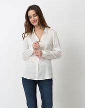 Dany ecru silk shirt ecru.