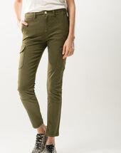 Damien 7/8 length khaki combat trousers kaki.