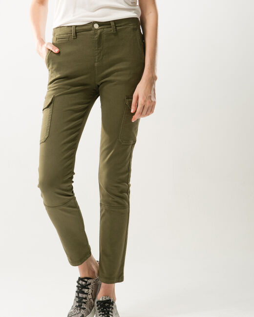 Damien 7/8 length khaki combat trousers (1) - 1-2-3