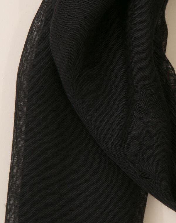 Etole noire en coton et soie Maeva