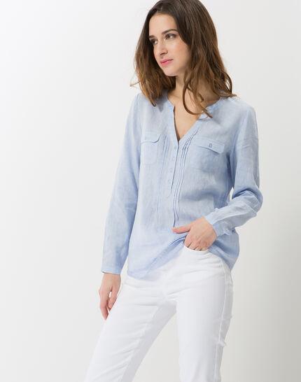 Roma sky blue linen shirt (4) - 1-2-3