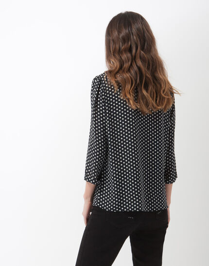 Astrid navy blue polka dot blouse (5) - 1-2-3
