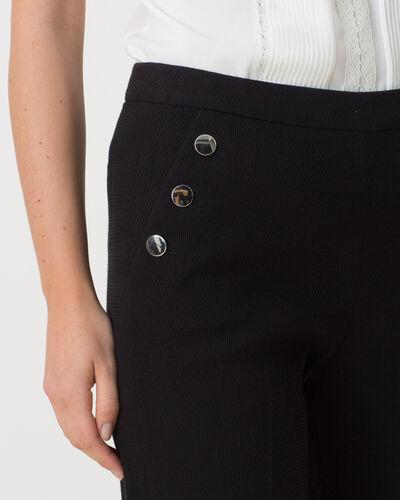 Rafia slinky black trousers in pique knit fabric (1) - 1-2-3