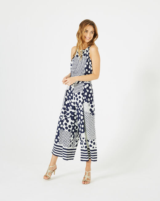 Cropped-Overall mit Print Amande (2) - 1-2-3