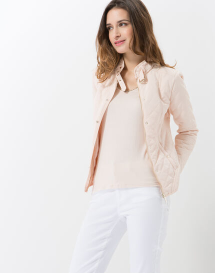 Olympe powder pink quilted parka (3) - 1-2-3