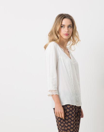 Emma ecru blouse with lace (3) - 1-2-3