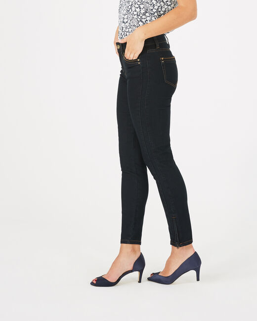 Pia 7/8th length black jeans (1) - 1-2-3
