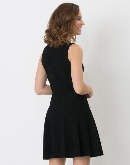 Robe noire en maille Bergame (4) - 1-2-3