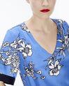 Blouse bleue imprimé fleuri Eclat (5) - 1-2-3