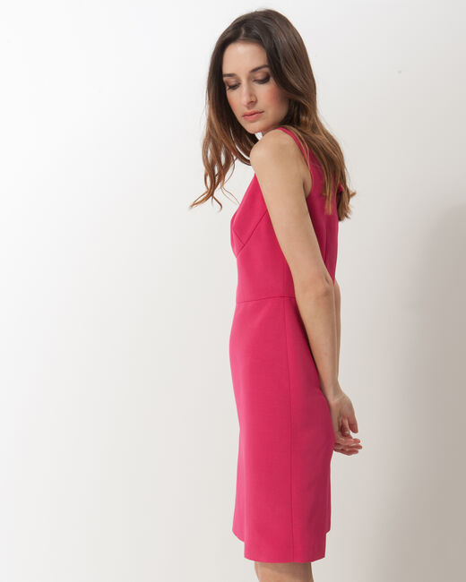Farah fuchsia ottoman dress (2) - 1-2-3
