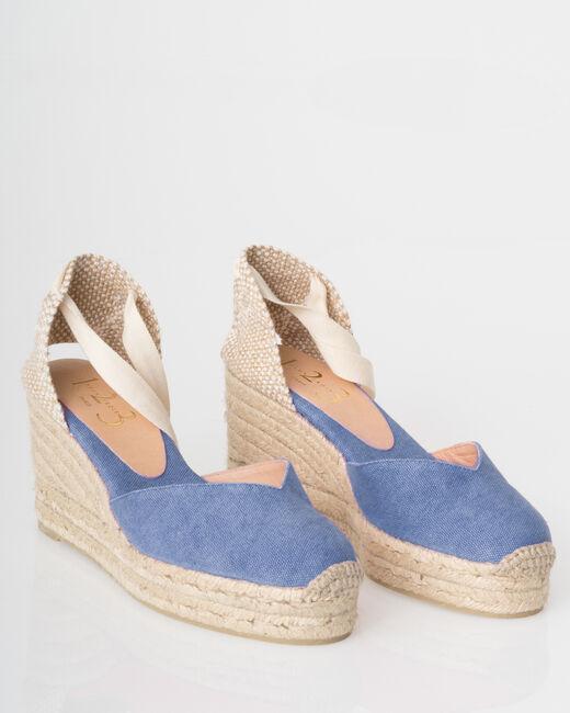 Jiara blue wedgie espadrilles (1) - 1-2-3