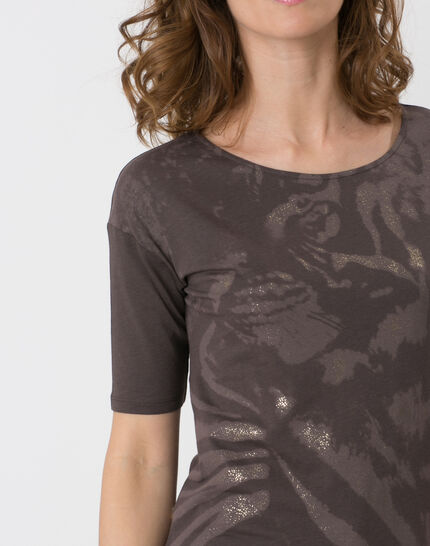 Neko brown T-shirt with safari print (5) - 1-2-3