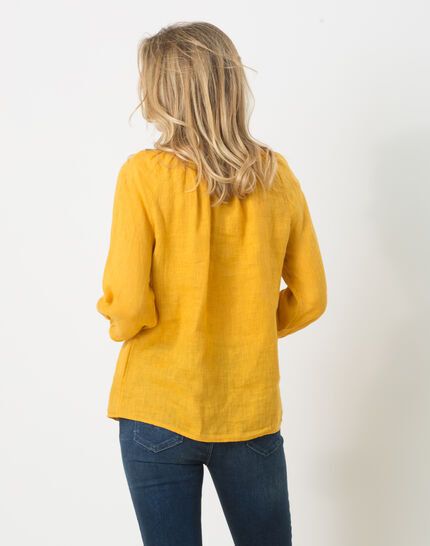 Erina yellow linen shirt (4) - 1-2-3