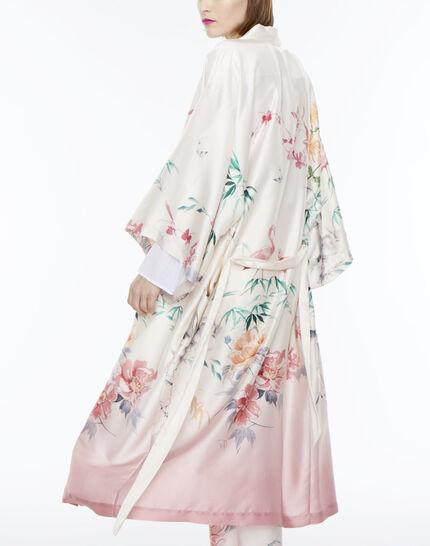 Kimono long rose imprimé Ukao (3) - 1-2-3