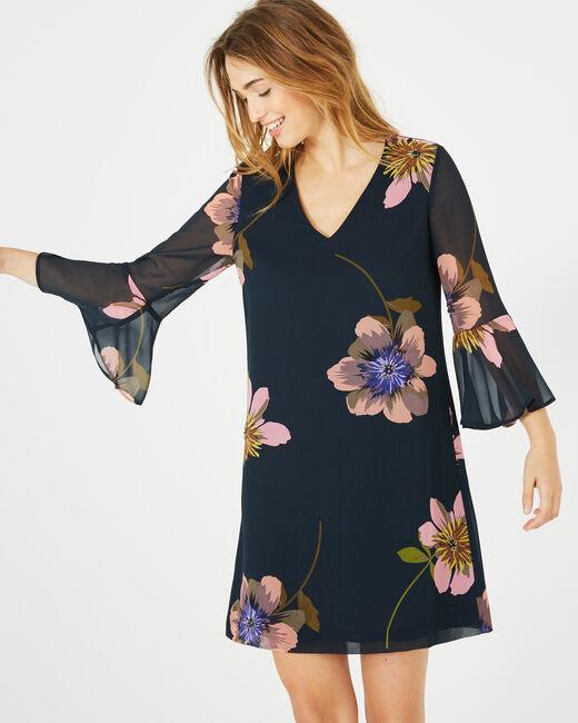 Robe imprimée fleurs Astrid (1) - 1-2-3