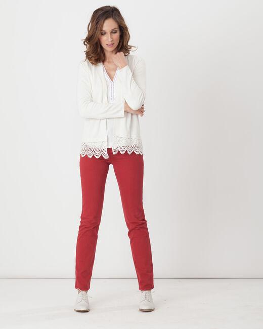 Héritage ecru cardigan with lace (1) - 1-2-3