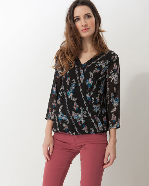 Fabiola black printed blouse (1) - 1-2-3