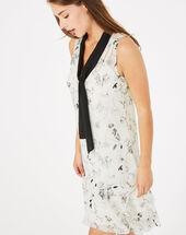 Robe imprimée gatsby noir/blanc.