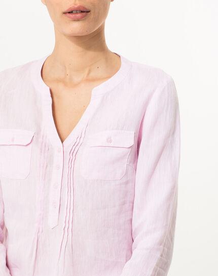 Roma pink linen shirt (5) - 1-2-3
