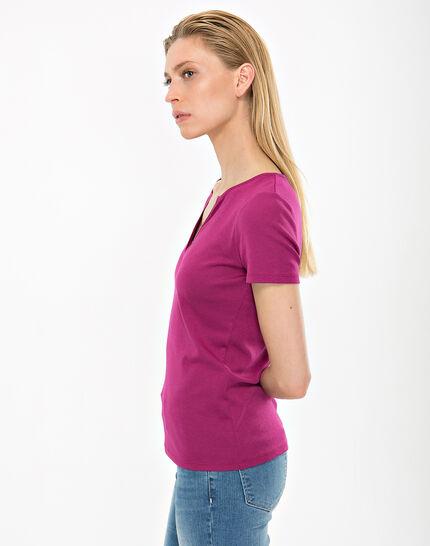 Tee-shirt fuchsia col strass Nirvana (3) - 1-2-3