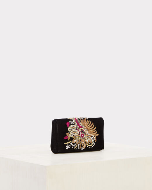 Rosie embroidered black clutch bag (2) - 1-2-3