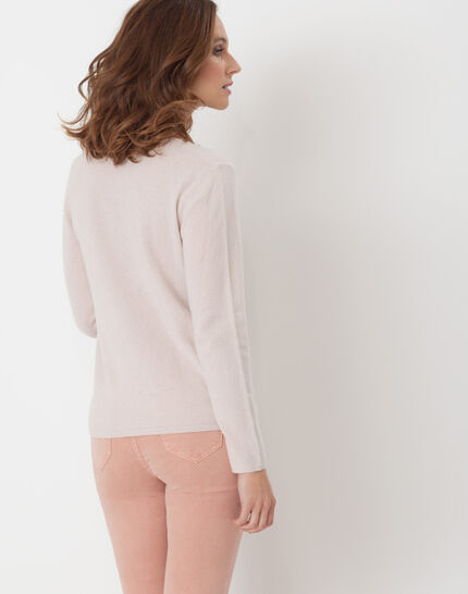 Heart powder pink cashmere sweater (4) - 1-2-3