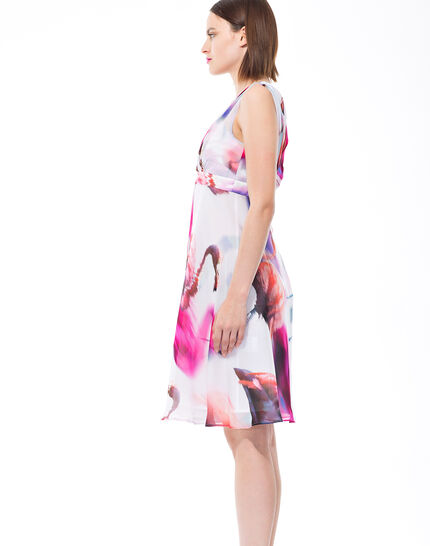 Robe fuchsia imprimée Loulou (3) - 1-2-3