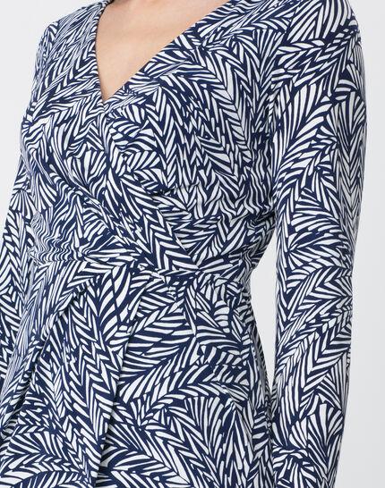 Bermude printed navy blue dress (4) - 1-2-3