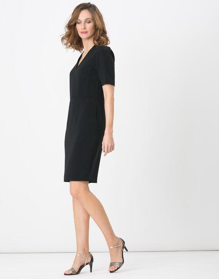 Bilbao black straight-cut dress (3) - 1-2-3