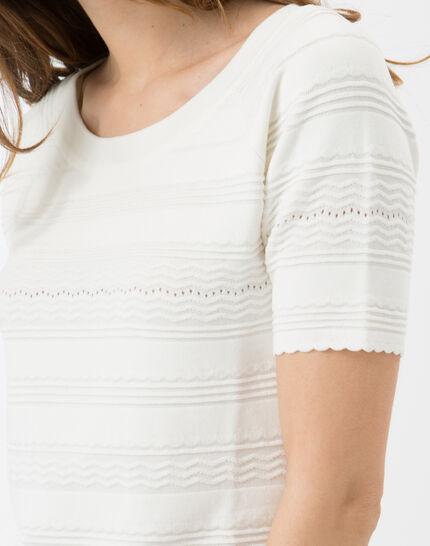 Hélène ecru sweater with stitching detail (5) - 1-2-3