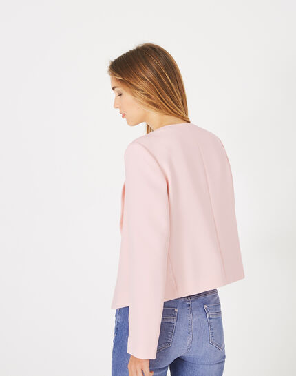 Lili pale pink cropped jacket (4) - 1-2-3