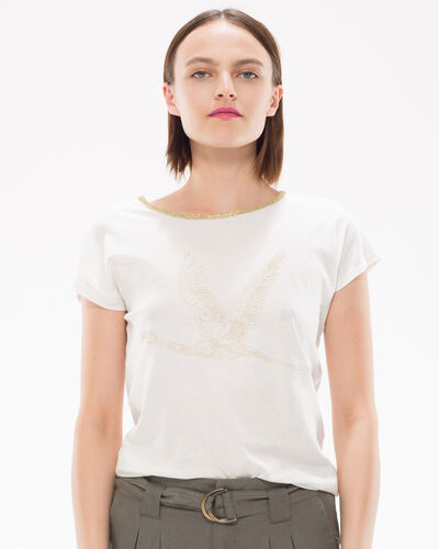 Tee-shirt brodé de fils lurex Nurex (1) - 1-2-3