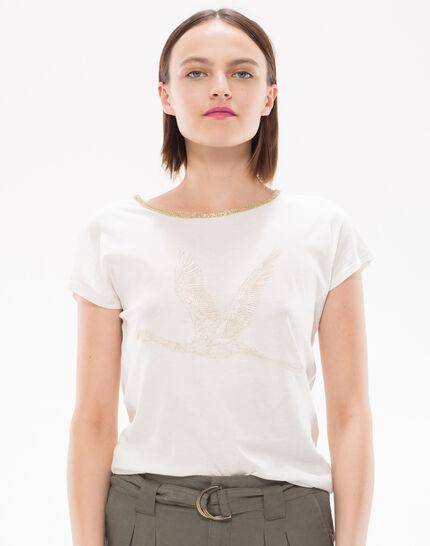 Tee-shirt brodé de fils lurex Nurex PhotoZ   1-2-3